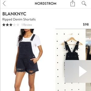 Black BLANK NYC overalls worn once